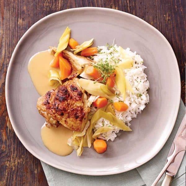 Kylling med ris fra Halkær Ådal