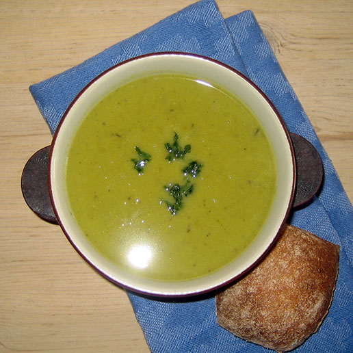 hjemmelavet broccolisuppe levering til døren