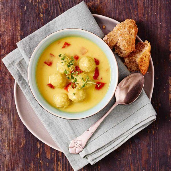 suppe med kødboller fra Halkær Ådal