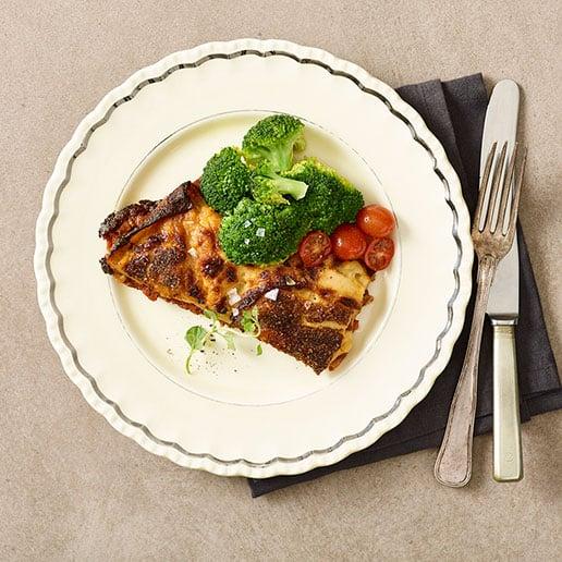 Levering af hjemmelavet lasagne fra Halkær ådal
