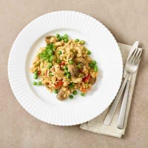 vegetar paella fra Halkær Ådal