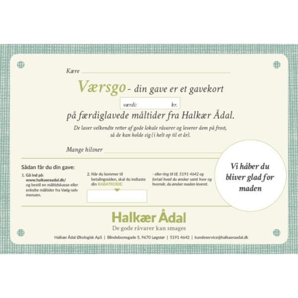 Halkær Ådal Gavekort til økologisk mad